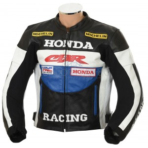 Honda CBR Racing Classic Leather Motorcycle Jacket